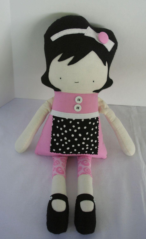 Stuffed Doll Rag Doll Fabric Doll Cloth Doll Handmade