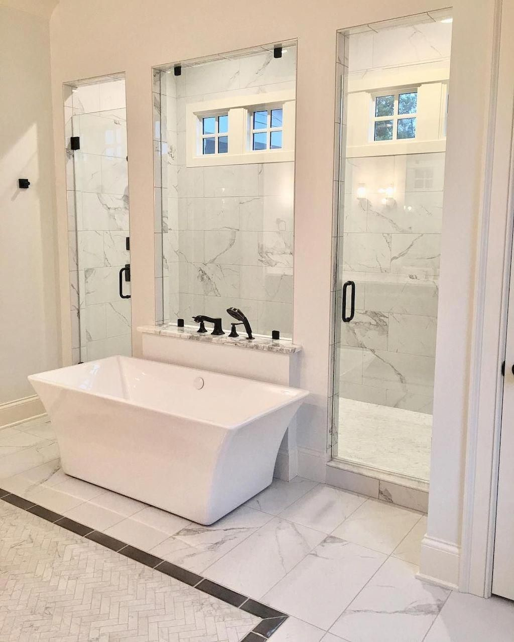 New restroom setup or old restroom remodeling would give you a chance to make the interiors of your restroom bright and airy. #restroomremodel