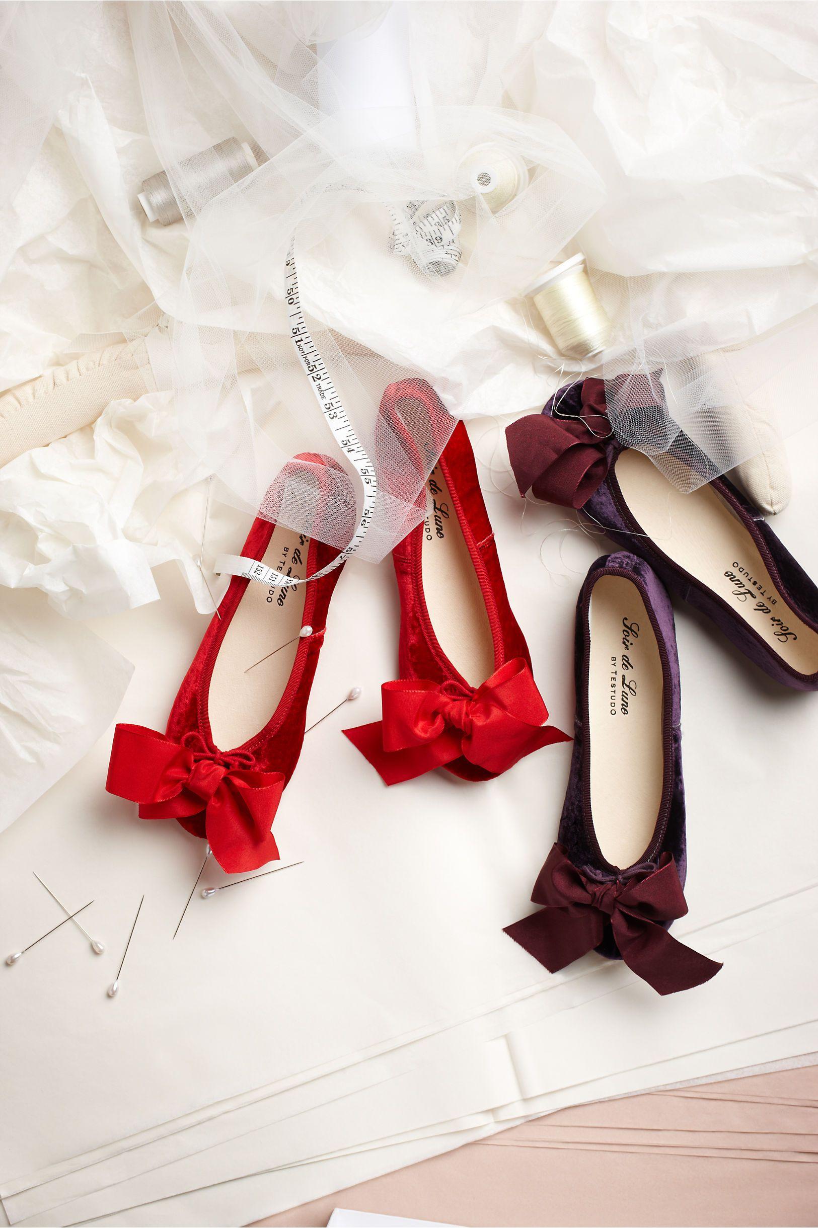 Photo of Aubergine Velvet Slippers