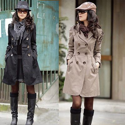 Women s  Slim Fit Trench Charm Double breasted Coat Fashion  Outwear Hot US $15.99