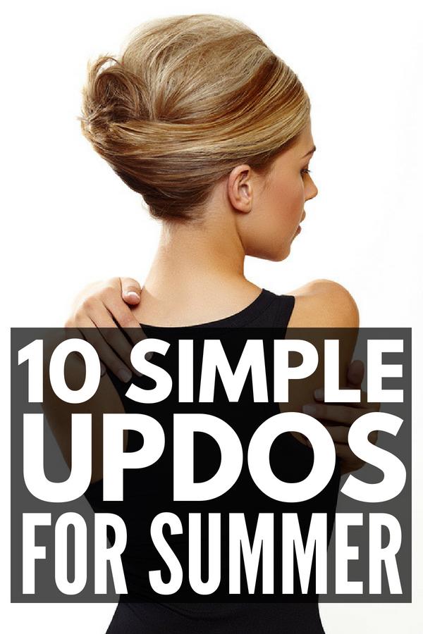 10 Simple Updos For Shoulder Length Hair Video Tutorials Meraki Lane Summer Hairstyles For Medium Hair Medium Hair Styles Updos For Medium Length Hair