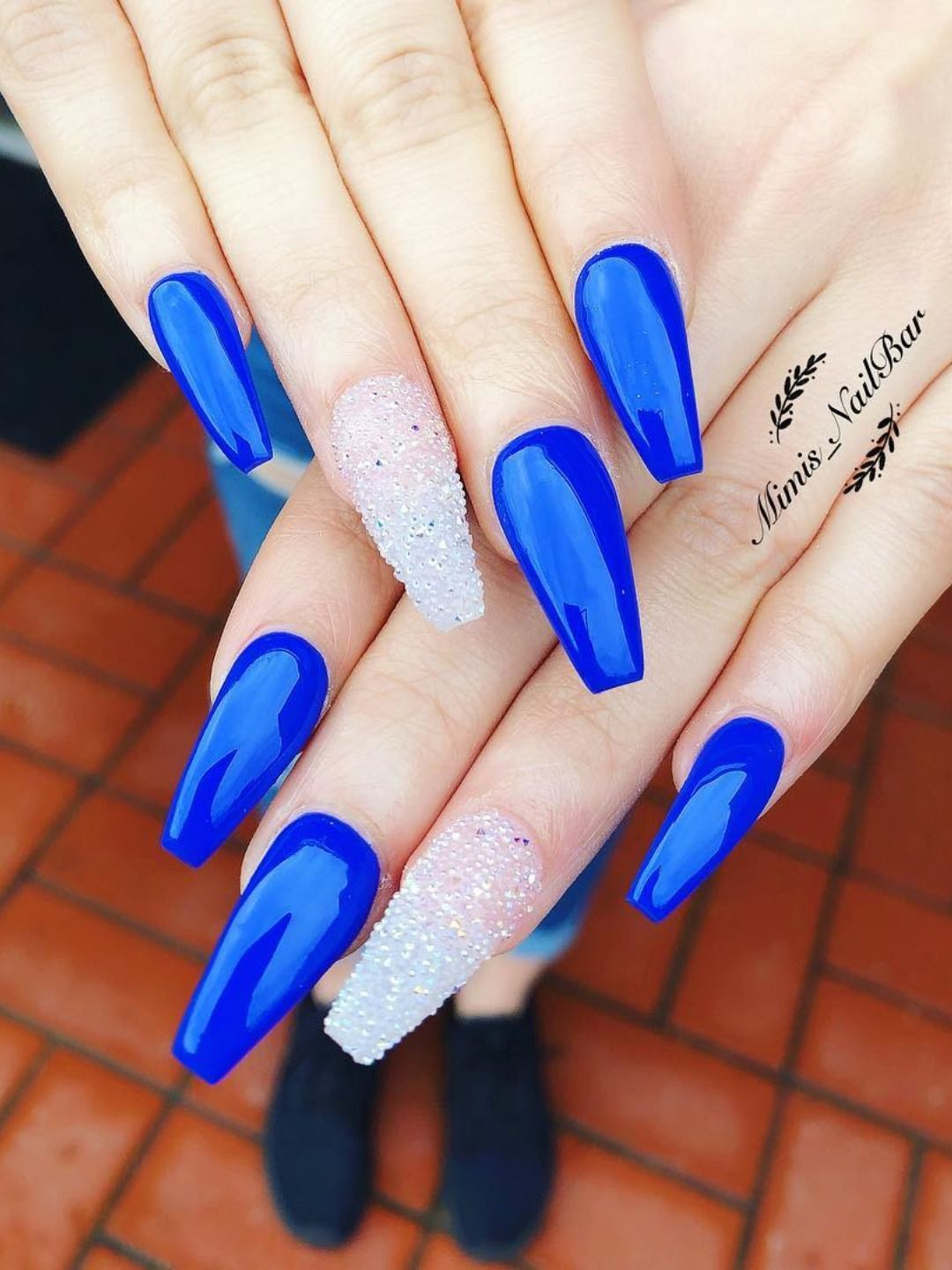 120 Best Coffin Nails Ideas That Suit Everyone In 2020 Blue Glitter Nails Blue Acrylic Nails Blue Prom Nails