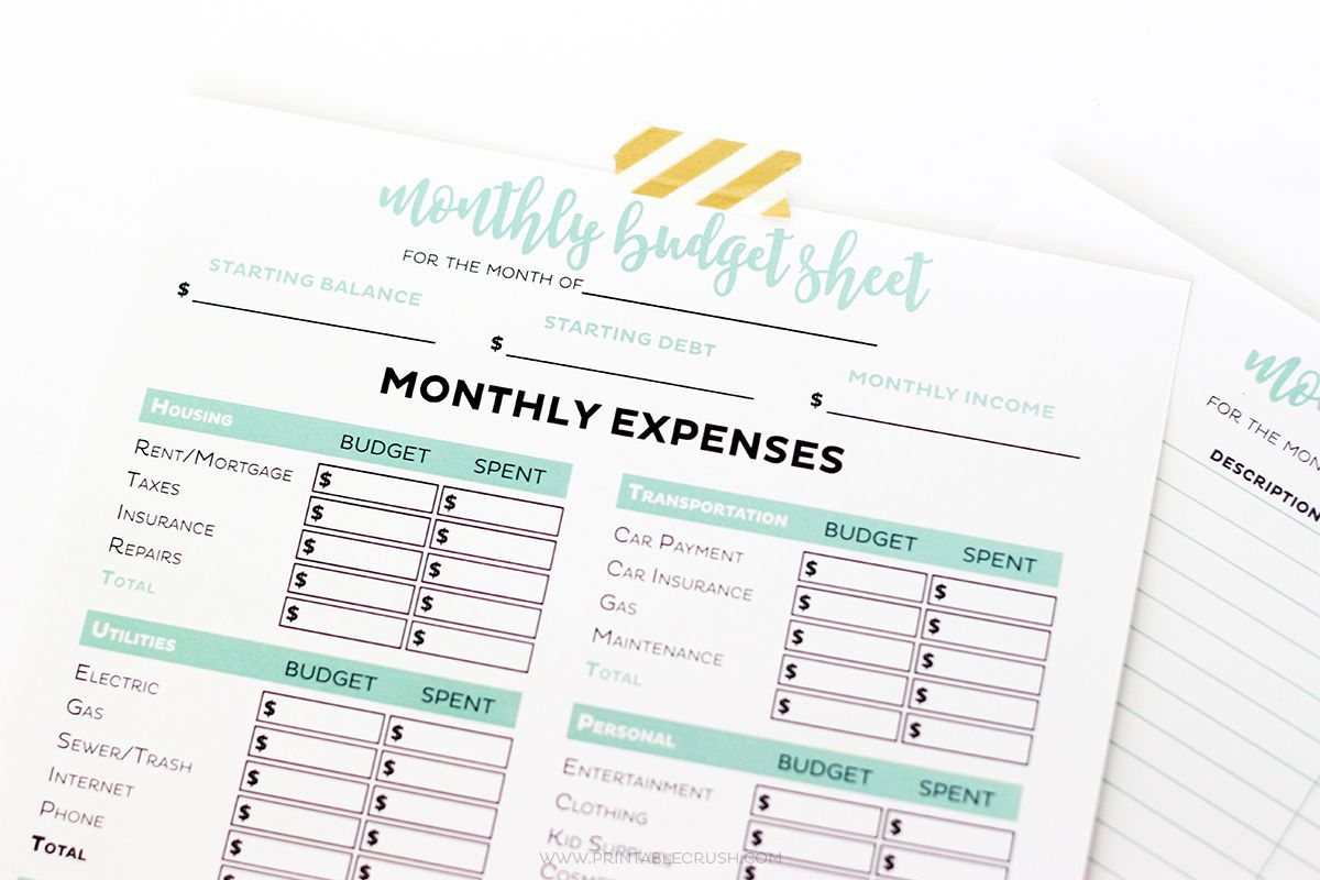 Get your finances in order with these Simple FREE Printable Budget ...