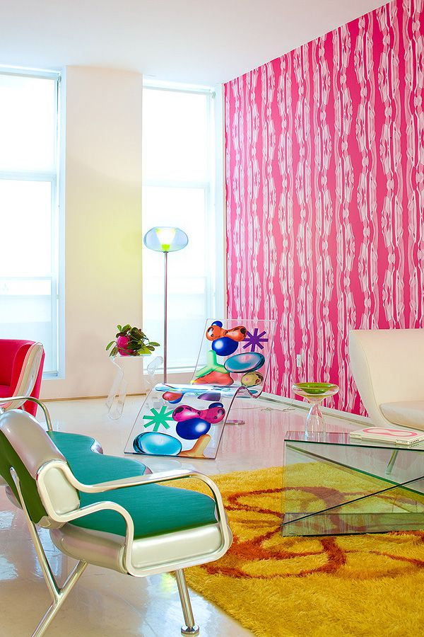Psychedelic Over the top New York Apartment | Colourful | Pinterest ...