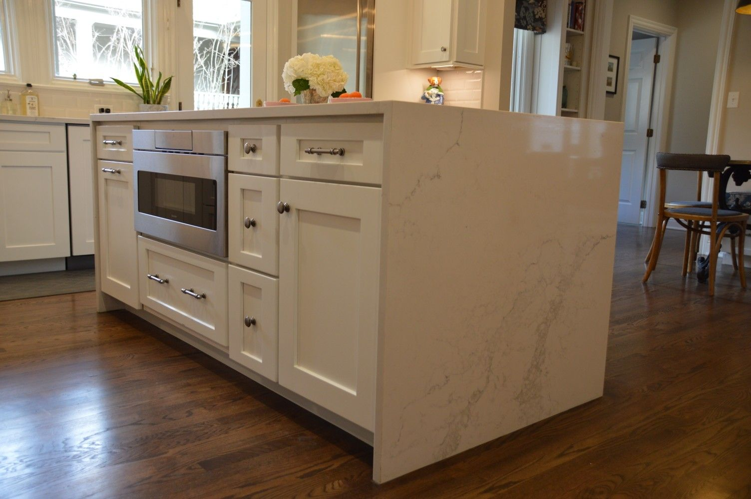 Kitchen Kith Kitchens Cabinetry Homestead Ii Maple Bright White Paint Cabinets Perimeter With Creekstone Finish On H Kitchen Sale Kitchen Paint Cabinets White