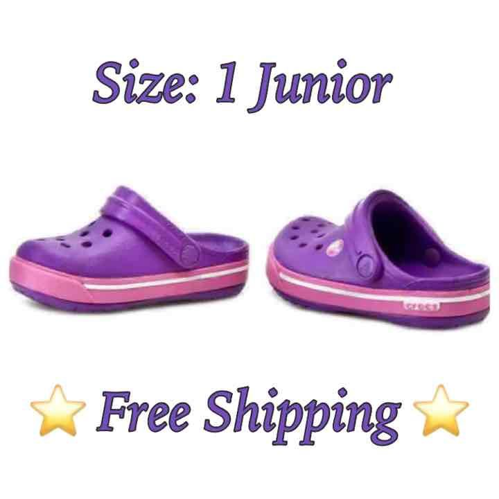 Crocs Girl's Size: 1 Juniors - Mercari: Anyone can buy & sell