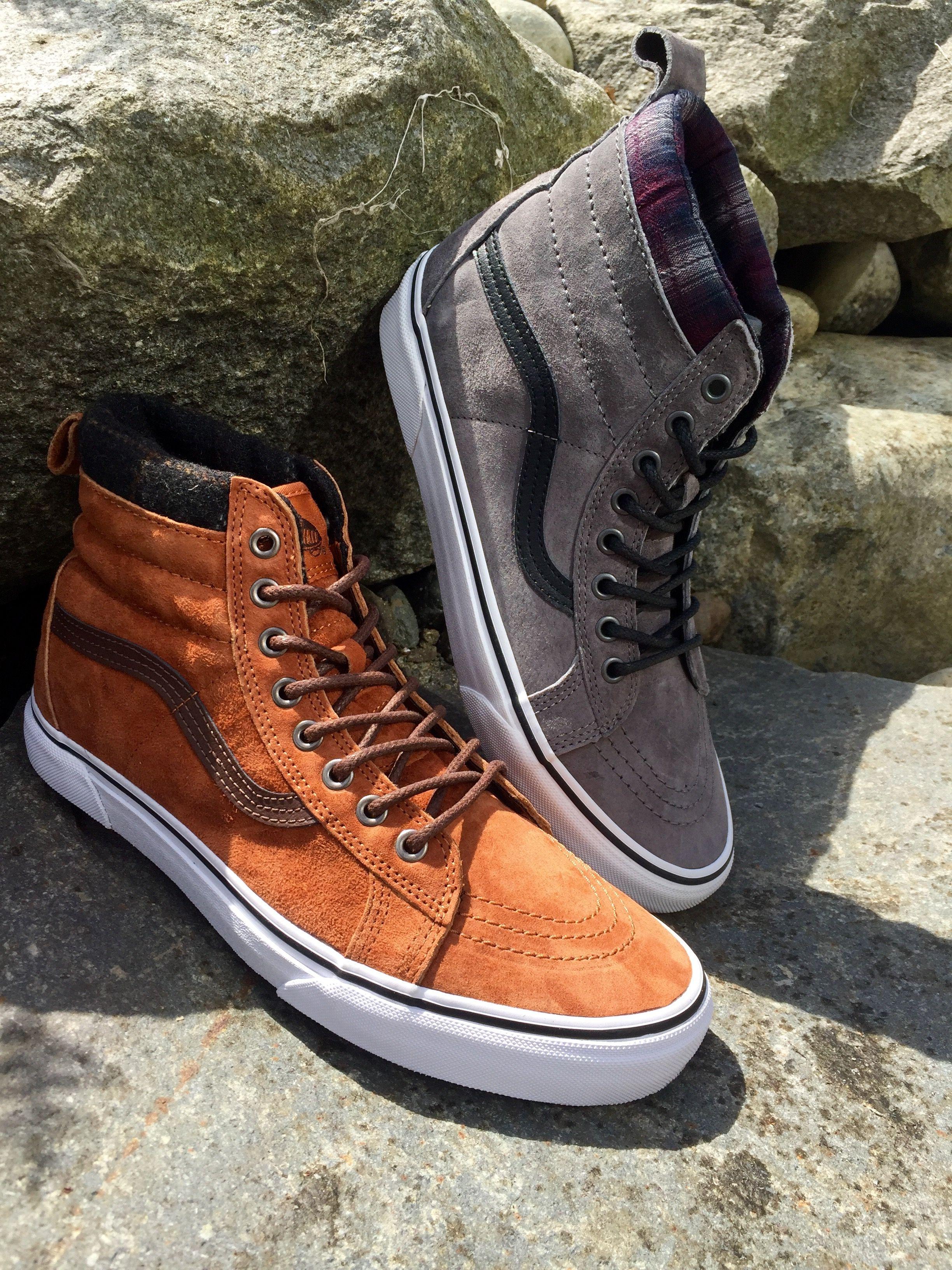Vans Sk8 Hi MTEs. The perfect fall shoe.  162489ffdc