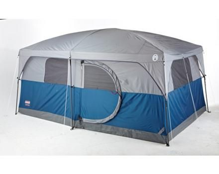 Coleman H&ton Cabin Tent features a 2 room design with a hinge door 14 x x footprint can accommodate up to 3 queen size airbeds  sc 1 st  Pinterest & Coleman Hampton Cabin Tent 9-Person | Canadian Tire | Campin ...