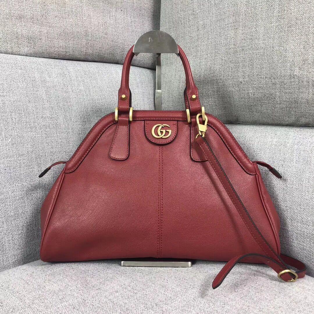 Gucci Re Belle Medium Top Handle Bag 516459 Red 2018 Guccihandbags