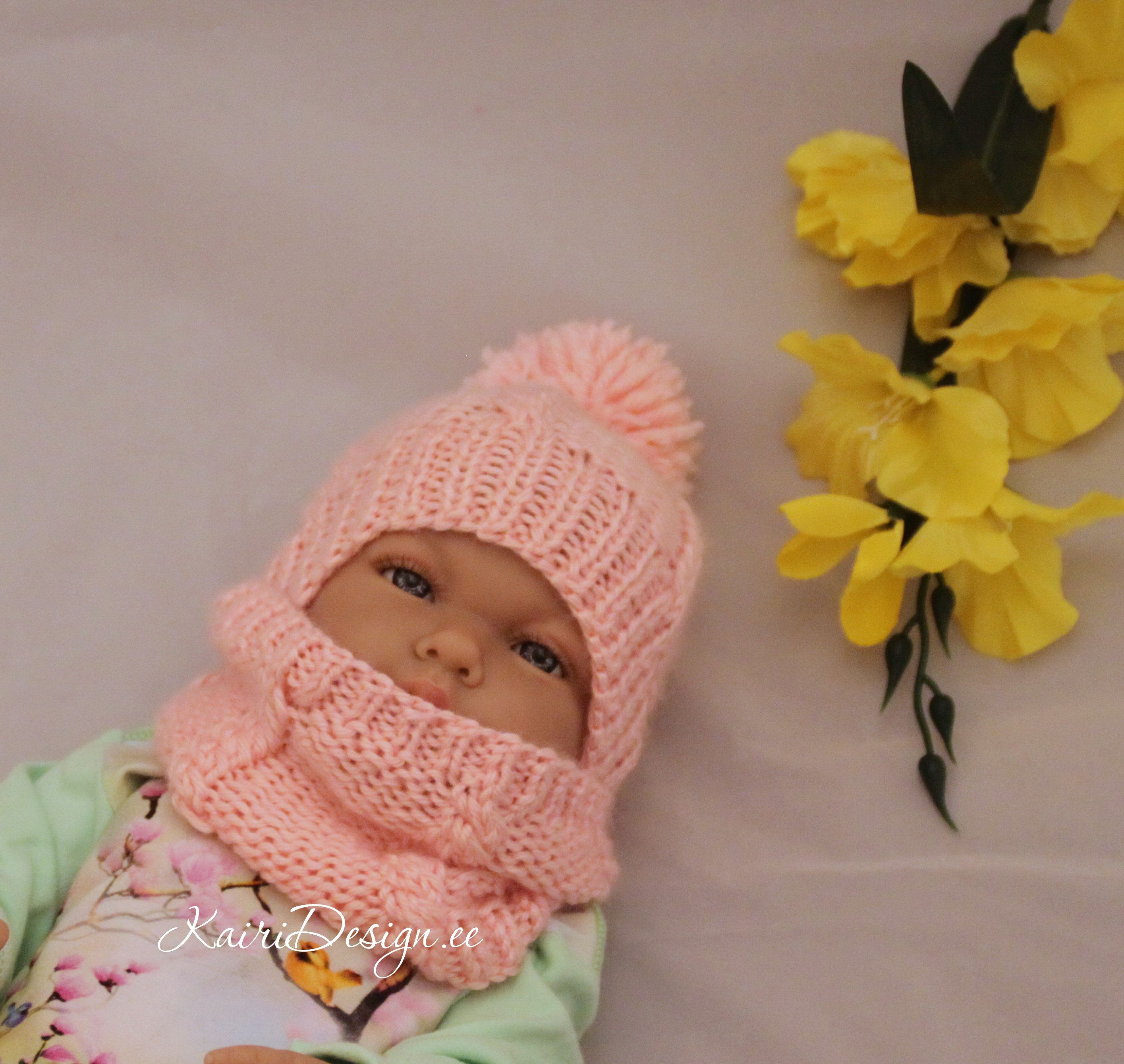 Photo of HAND KNITTING PATTERN- Baby Born Doll hat knitting, Baby doll scarf, Knitting for 18 inch doll, Doll clothes knitting