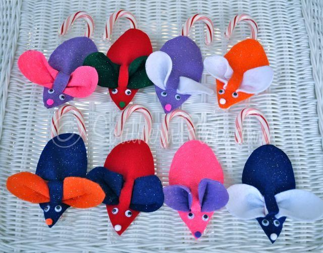 Christmas Mice With Candy Cane Tails  Candy Canes Mice And Felting