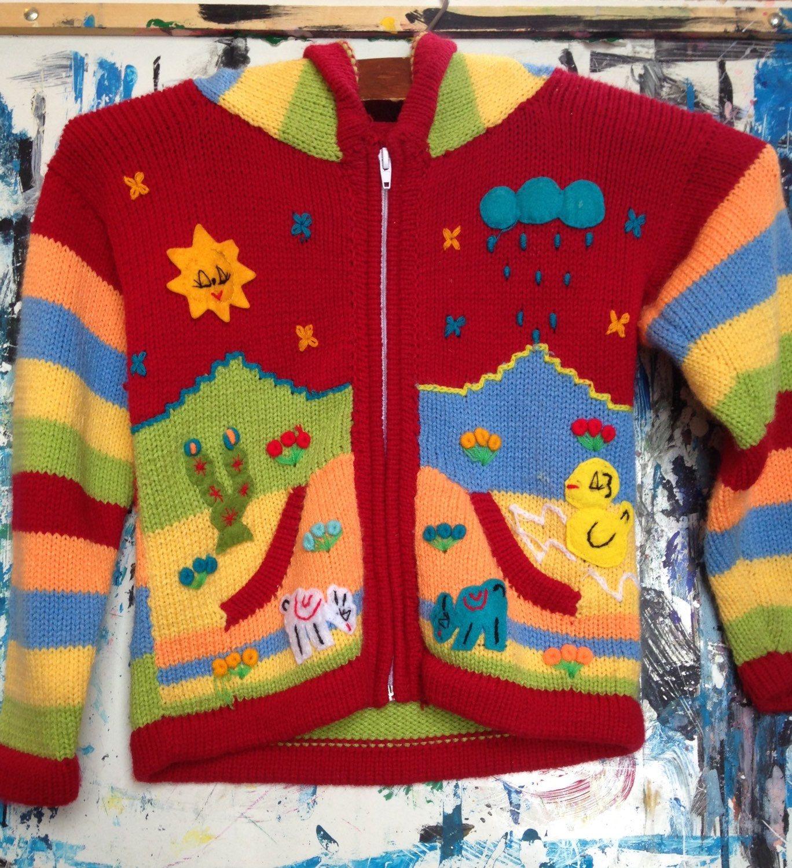 bcf521255128 Vintage Mexican Children s Sweater