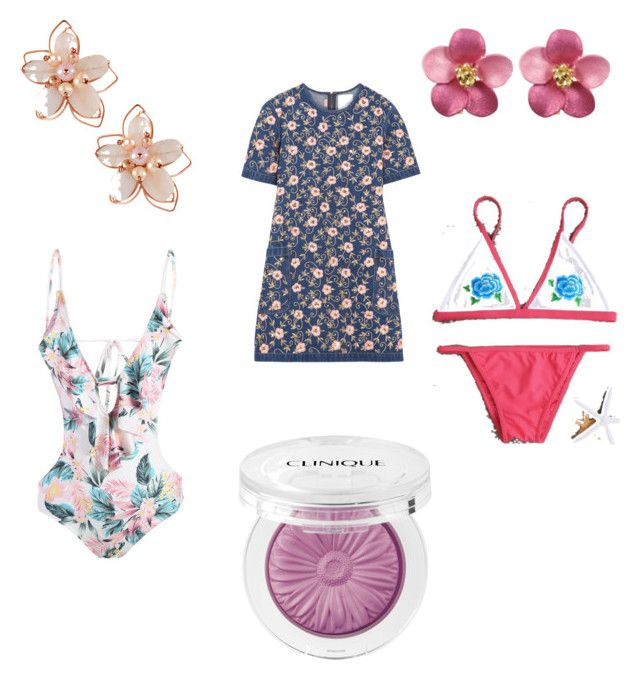 """""""Floral 64"""" by audjvoss ❤ liked on Polyvore featuring Ashish, NAKAMOL and Clinique"""