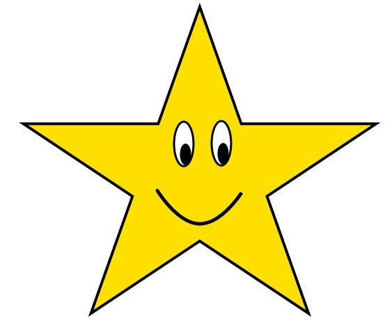gold star with happy face clipart sketch lge 12cm by you get the rh pinterest ca