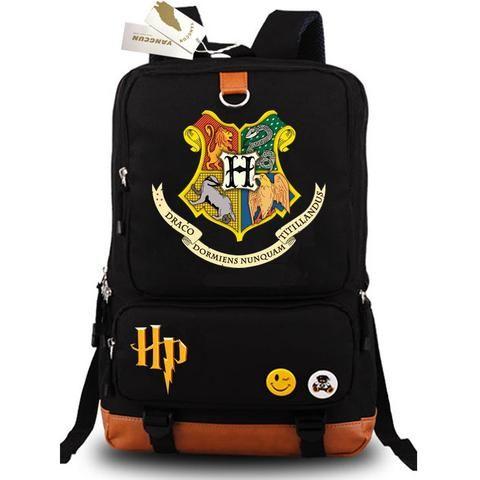 Harry Potter Backpack Hogwarts Shoulder Bags Unisex Students School Bag