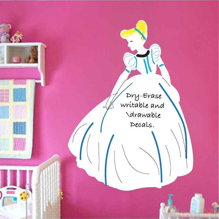 Princess Dry Erase Wall Decal Dry Erase Wall Wall Decals Kids