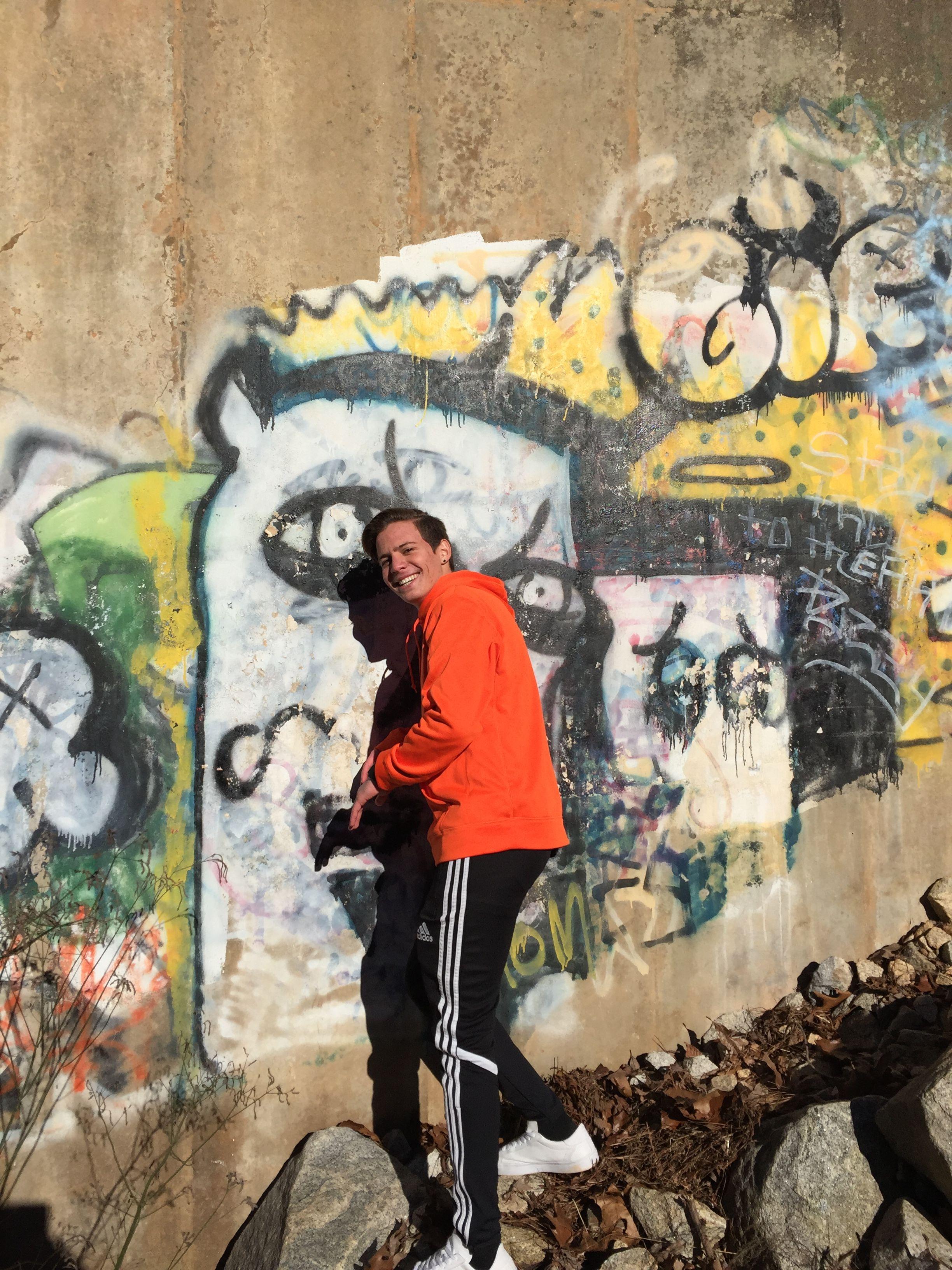 Graffiti wall chelmsford - Nike Orange Sweatshirt Adidas Pants Graffiti Wall