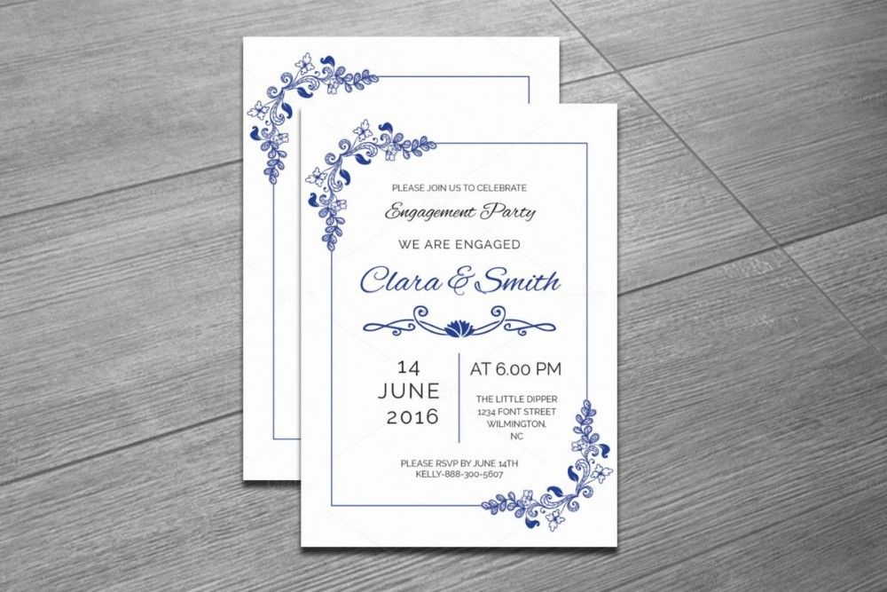 Invitation Template Word Entrancing 20 Engagement Invitation Template Word Indesign And Psd Format .