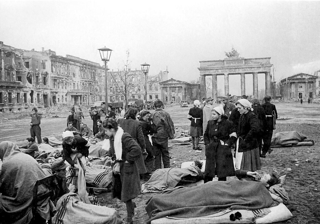 Displaced peoples in Berlin after the war.