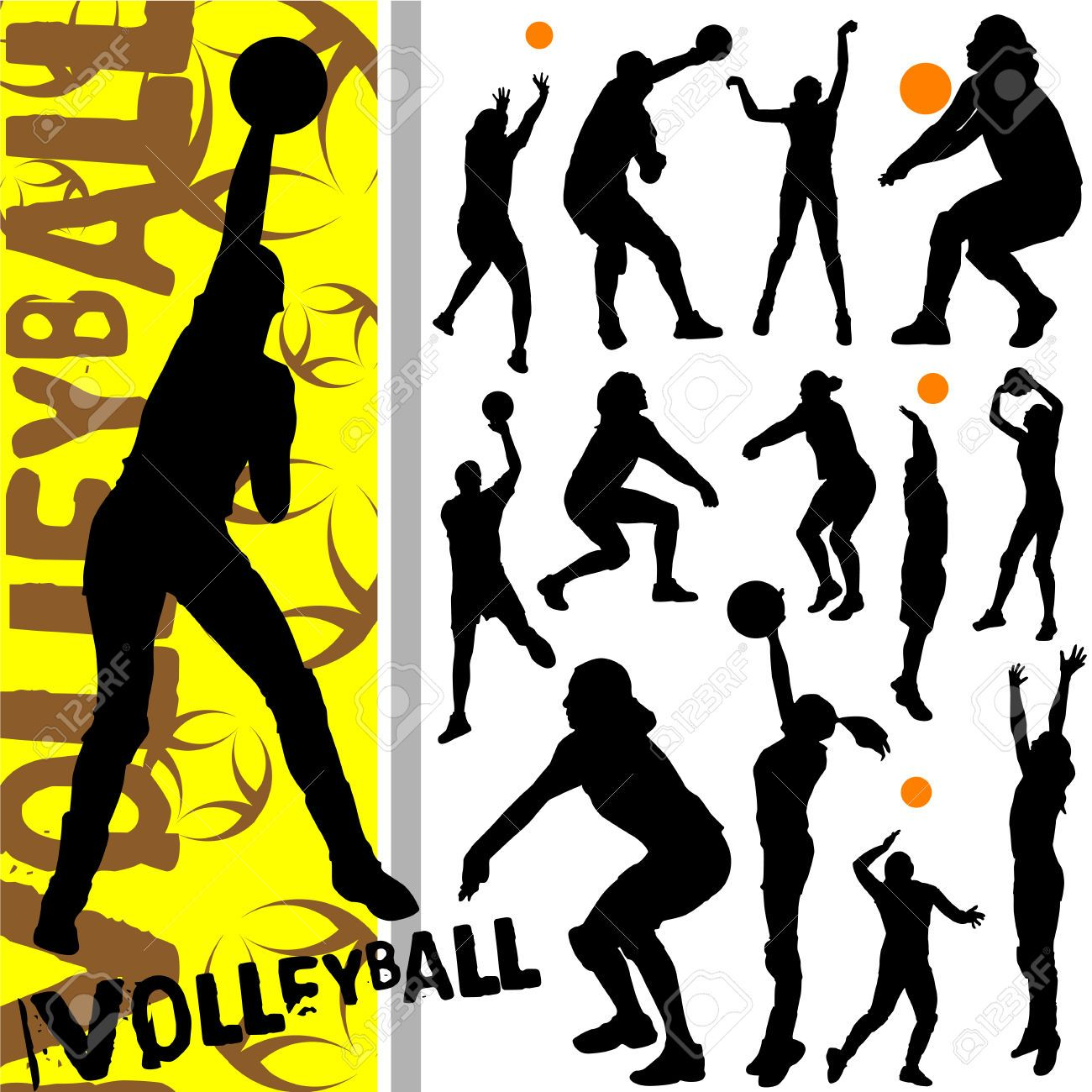 Image Result For Girls Volleyball Shadow Pic Volleyball Silhouette Silhouette Vector Volleyball