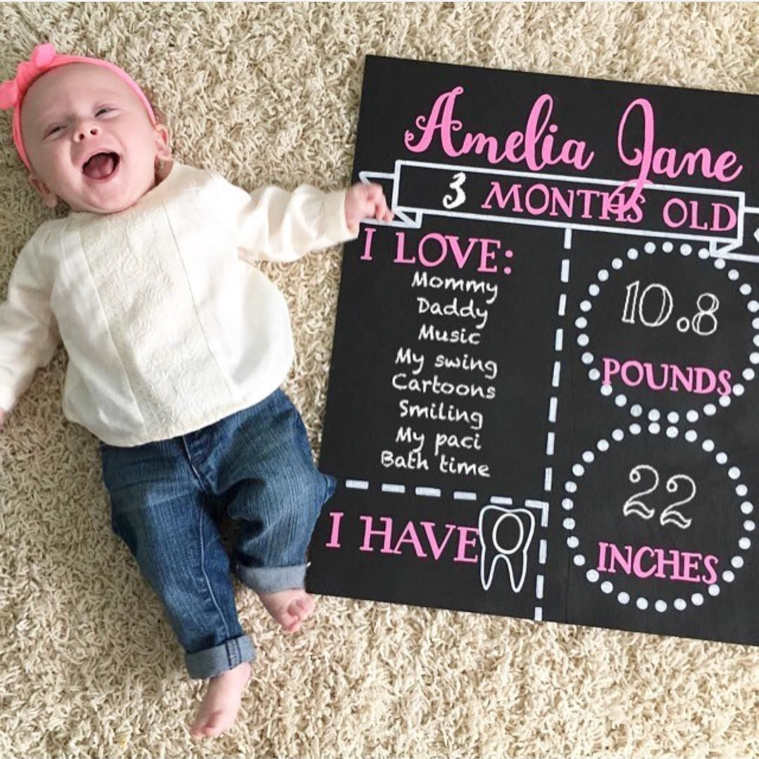 Happy 3 Months Little Lady Loving At Amandaussery Pic Using Our Fonts