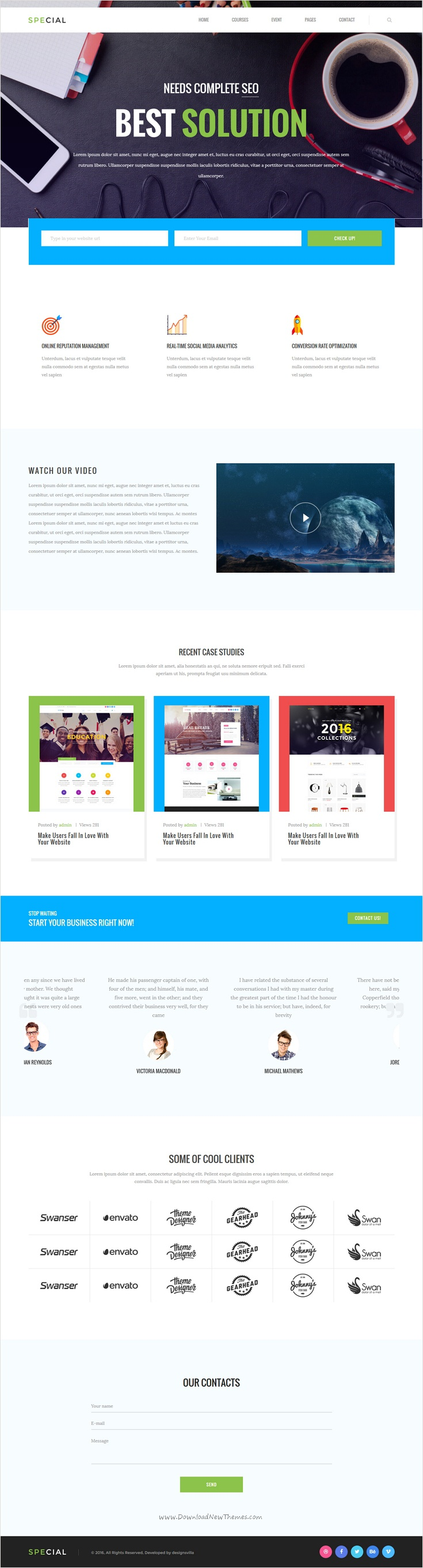 Pin By Web Design Inspiration On Free Bootstrap Themes Collection - Seo landing page template
