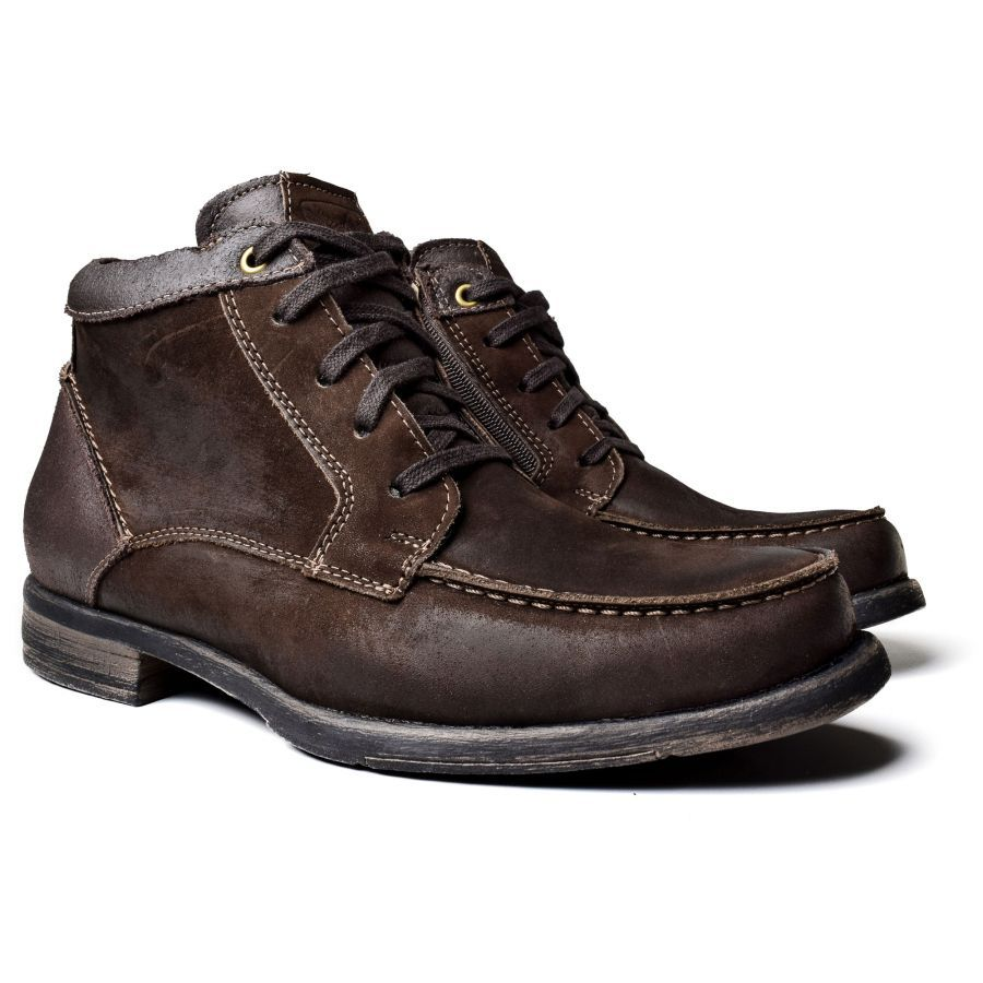 1823a37d9 Coturno Casual Boot Tipo Inglês Westfran Alaska 05 Marrom Café Manchado  Mens Fashion