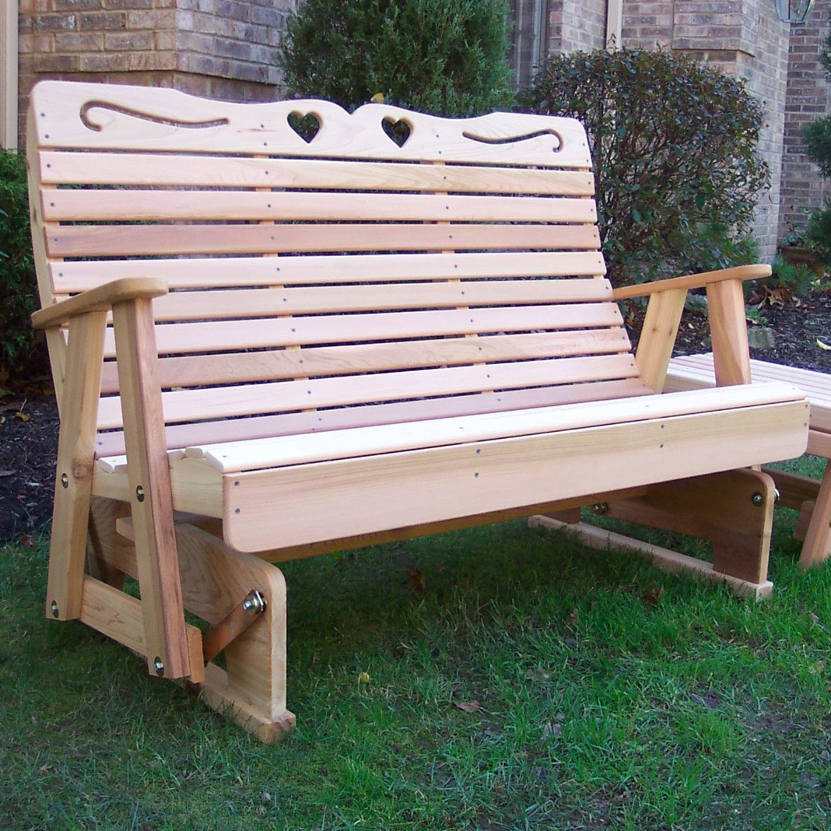 Country Hearts Wood Garden Bench Woodworking projects