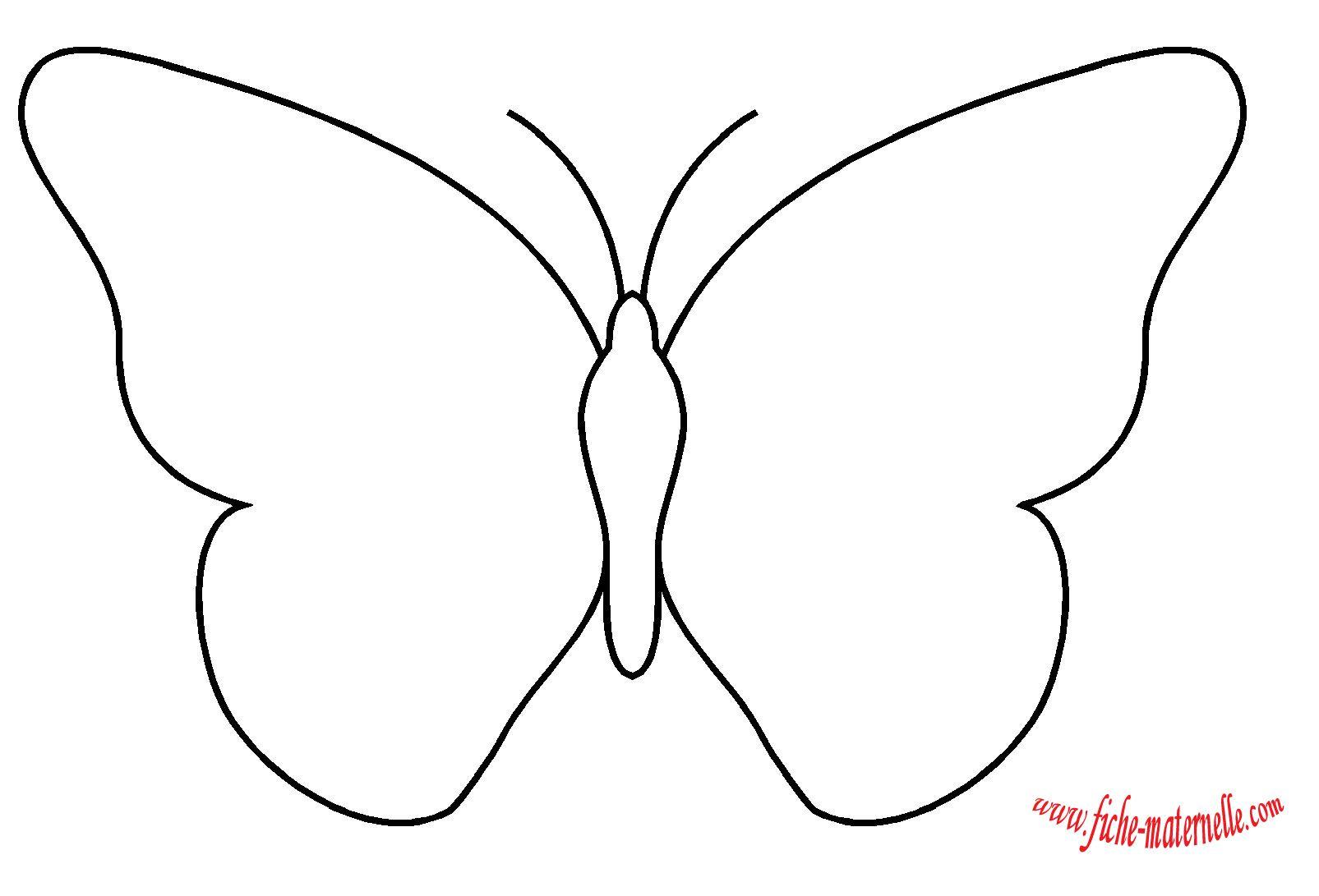 Tracer les silhouettes l interieur des figures cr ation dessin papillon facile dessin - Silhouette papillon imprimer ...