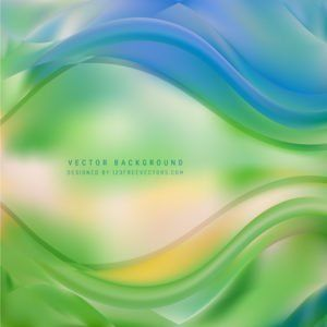 Abstract Blue Green Wave Background Template Background