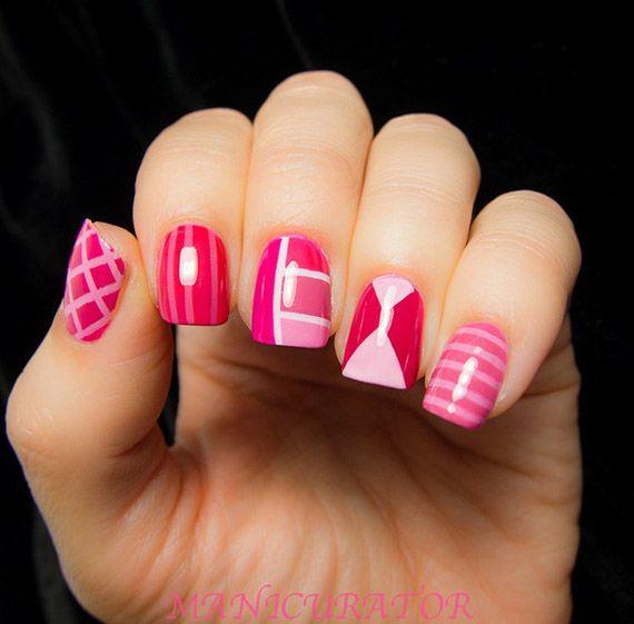 fotos de uas pintadas color rosa 50 ejemplos pintar uas pink nails - Modelos De Uas Pintadas