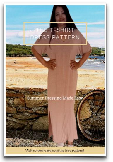 b9c9e89eee11 Free Sewing Pattern  T-Shirt Dress Pattern