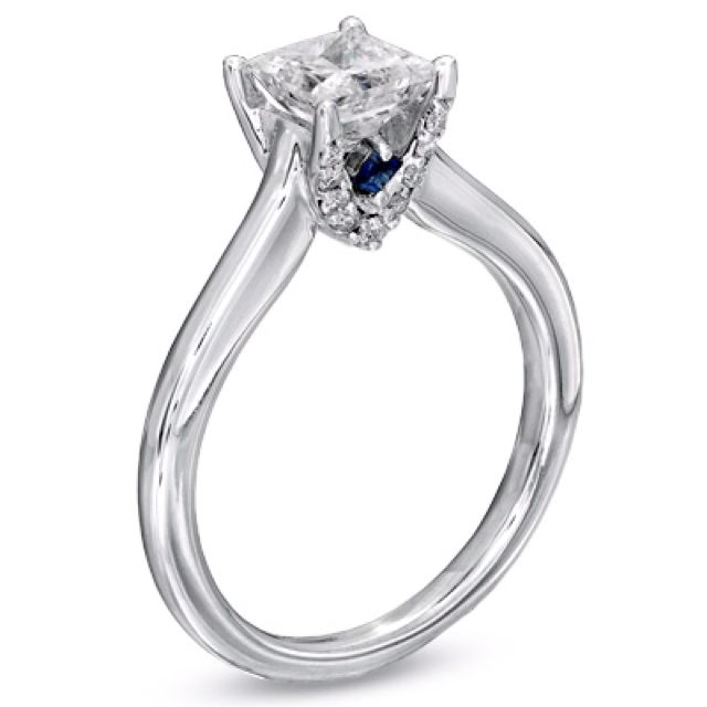 Vera Wang Engagement Ring Want Want Want Love The Blue Sapphire