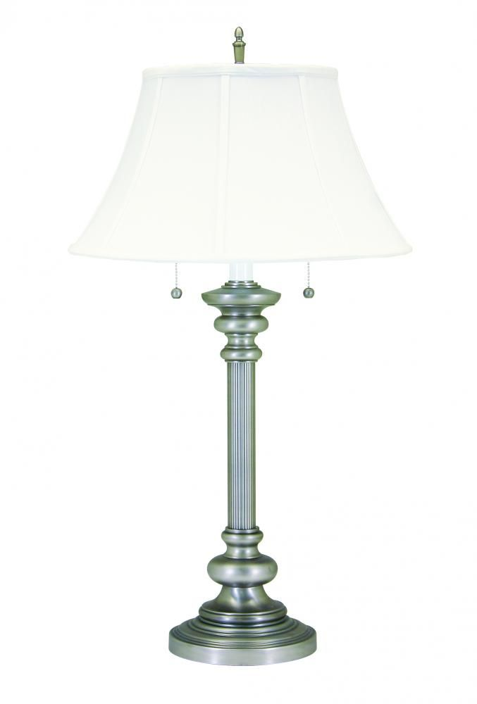 This two light Pewter table lamp from House of Troy is such a classic look for your living room or office!