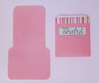 Envelope Template - TEM-105 Library Pocket and Matchbook Card - library card template
