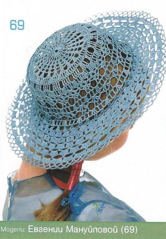TRICO y CROCHET-madona-mía: Sombreros a Crochet con esquema ...
