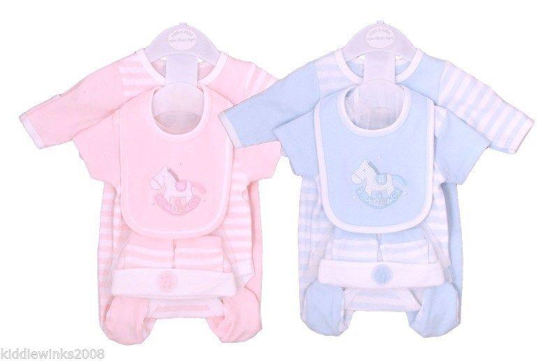 4398964108c BNWT Tiny Preemie Baby boys or girls Premature 5 piece layette set Clothes