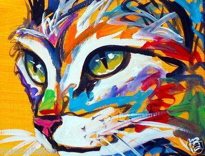 Cat Abstract Painting Marc Broadway Cat Paintings