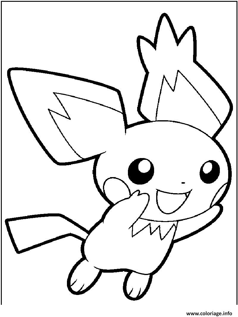 Pikachu And Pichu Coloring Pages Pokemon Coloring Pokemon