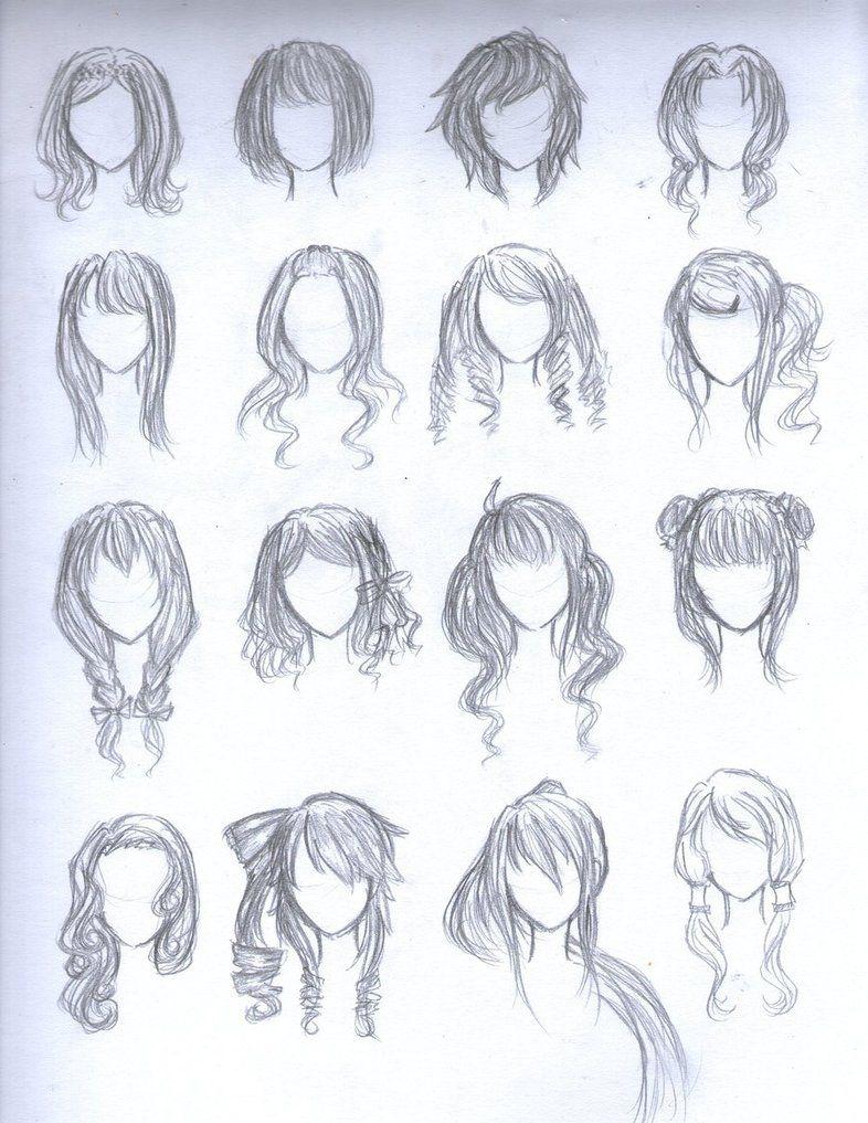 chibi hairstyles hair