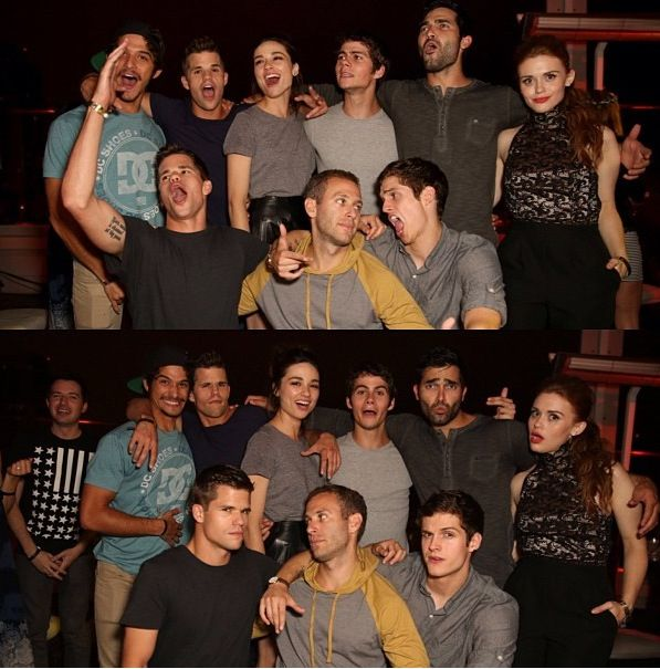 Teen wolf cast. So many hilarious faces lol!