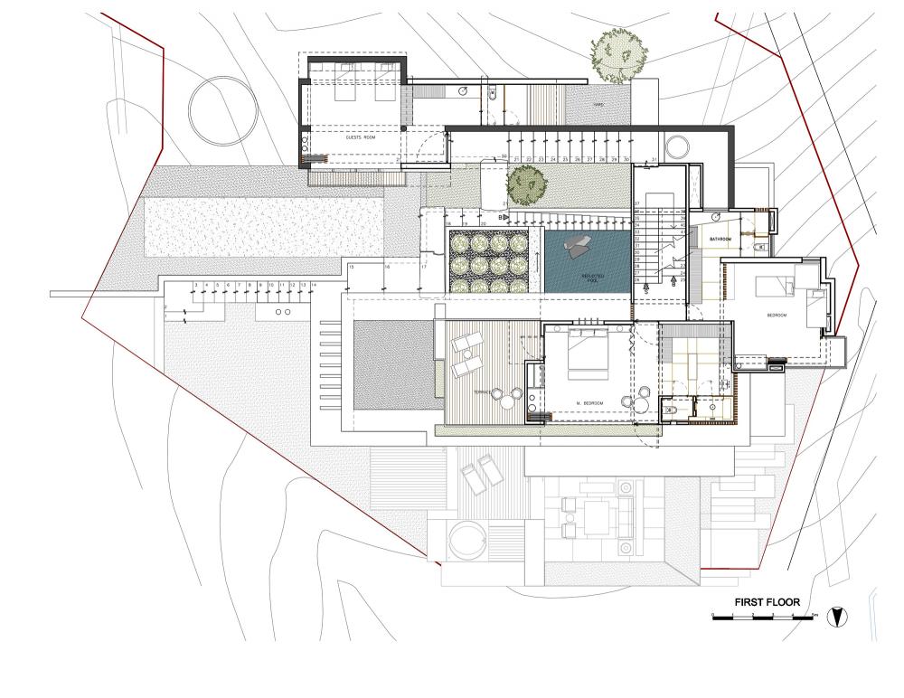 House Maza Chk Arquitectura Sims House Plans House Floor Plans Villa Plan