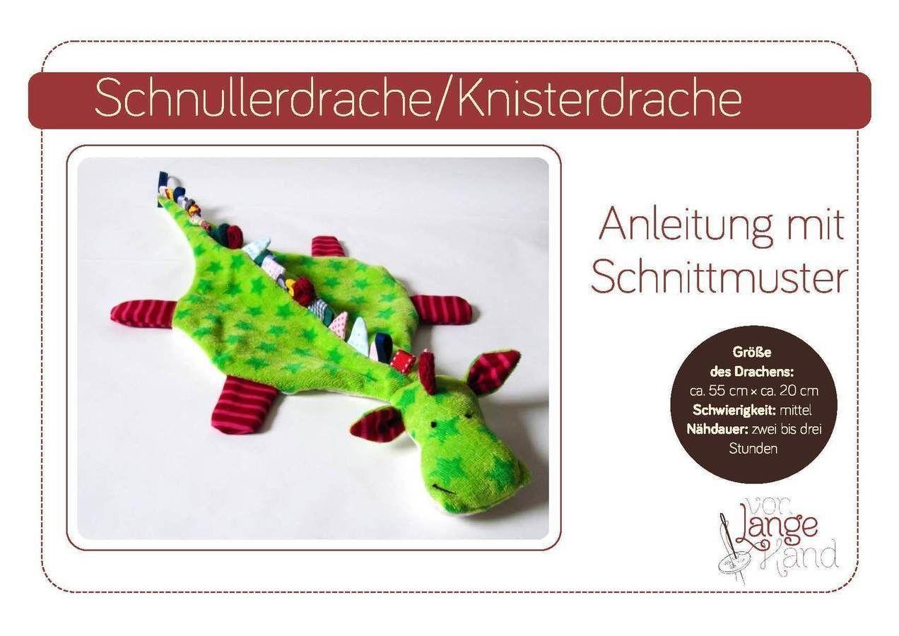 Schnullerdrache ♥ Knisterdrache ♥ Schnuffeltuch (Nähanleitung ...
