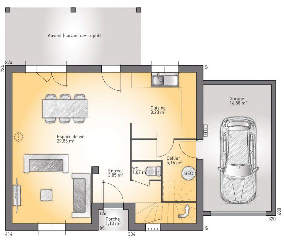 plan maison neuve construire maisons open open rhone etage 95 elegance id e maison. Black Bedroom Furniture Sets. Home Design Ideas