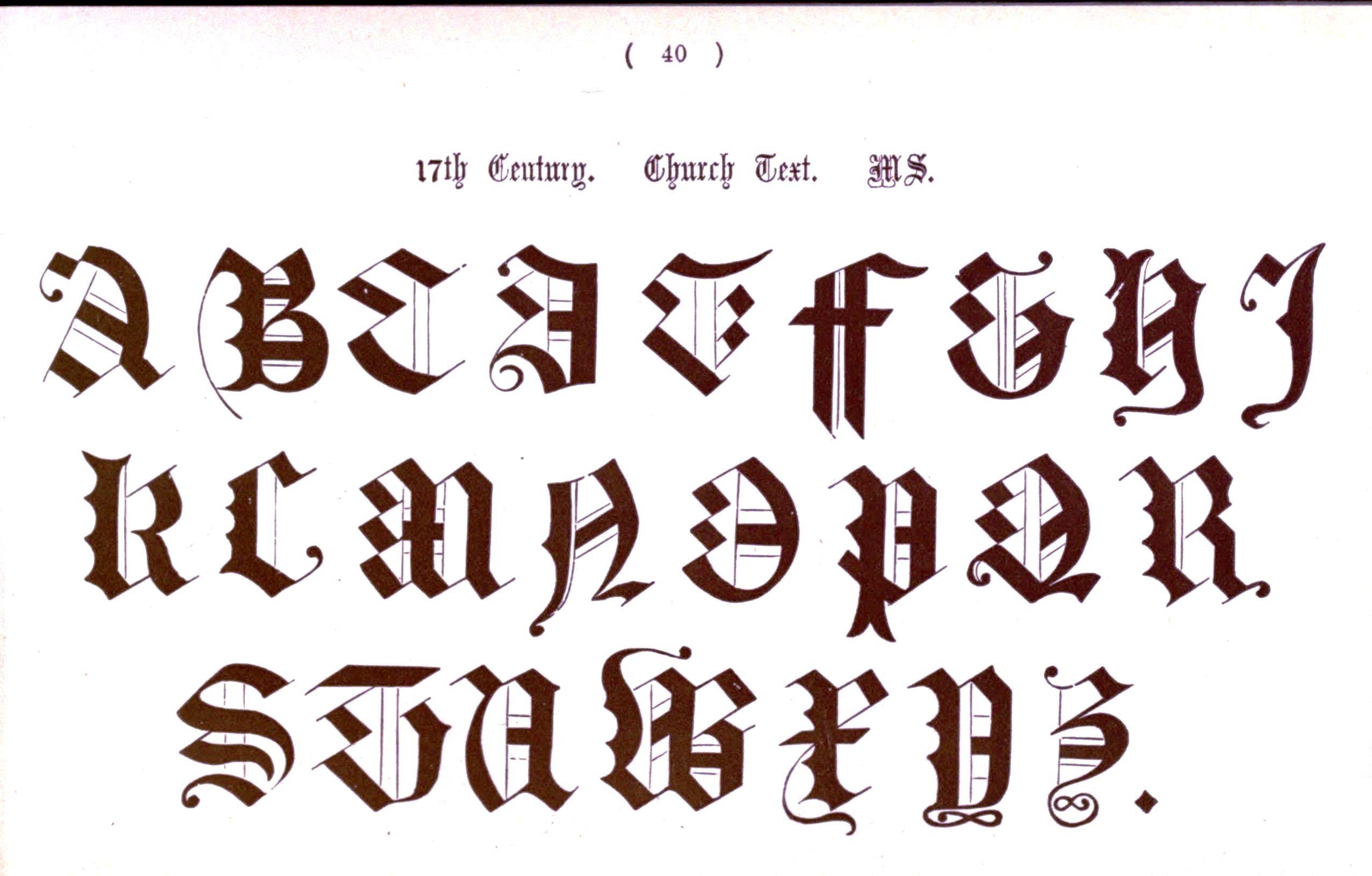 Typography - Alphabet - Ornamental, Renaissance, medieval  (39)