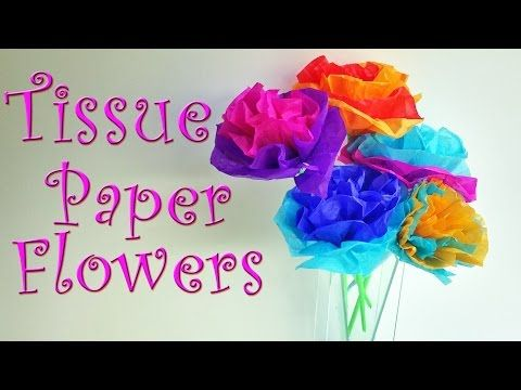 Diy Crafts How To Make Tissue Paper Flowers Easy Ana Flowers