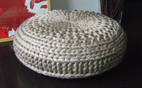 Knitting Pattern 4 Knitted Pouf Floor Cushion Patterns Tutorials