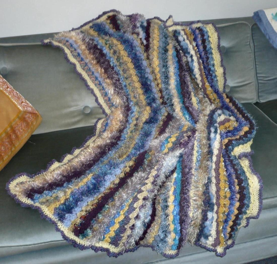 crochet blanket, single bed size Crochet blanket