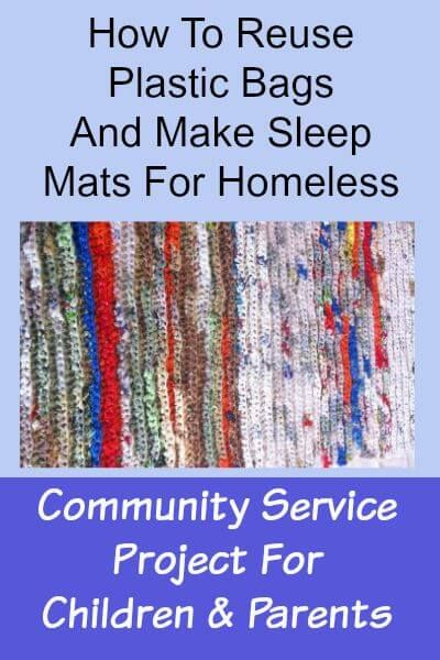Wonderful Community Service Project To Reuse Plastic Bags And Craft The Into Sleeping Mats For Homeless Those In Need