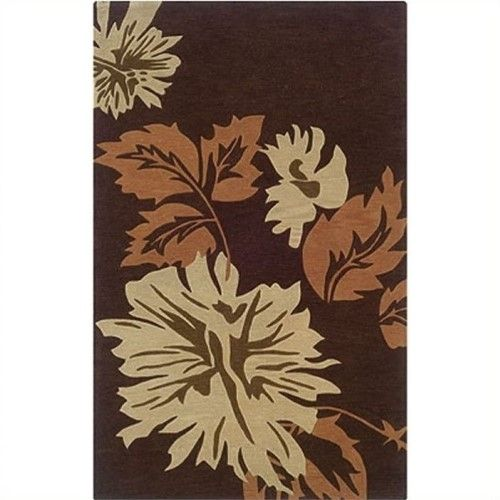 Hawthorne Collection 8' x 10' Hand Tufted Area Rug in Chocolate (Brown)